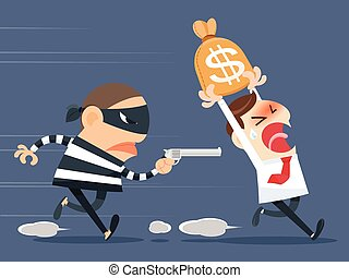 Thief stealing