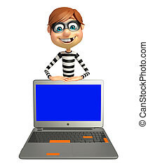 Thief with Laptop
