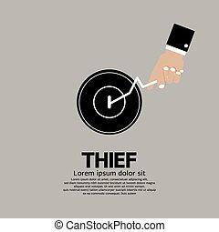 Thief's Hand Turn On Door Knob. - Thief's Hand Turn On Door...