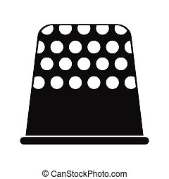 Thimble black simple icon