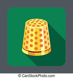 Thimble concept background, cartoon style