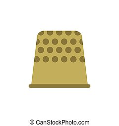 Thimble flat icon