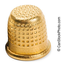 Thimble gold isolated