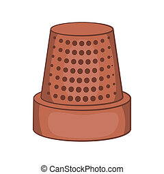 Thimble icon, cartoon style