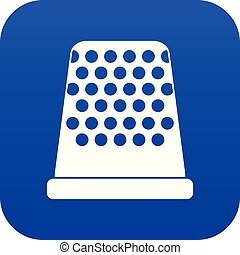 Thimble icon digital blue