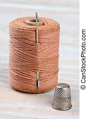 Thimble Needle and Thread