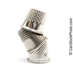 Thimbles. On a white background.