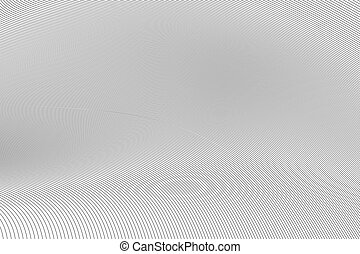 Thin black curved lines, abstract background