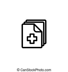 blank document icon on white background