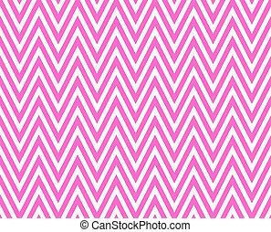 Thin Bright Pink and White Horizontal Chevron Striped ...