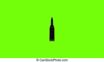 Thin cartridge icon animation best simple object on green screen background