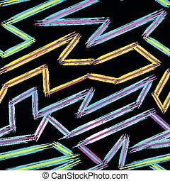 thin color lines on a black background abstract vector pattern in graffiti style qualitative vector illustration for your design