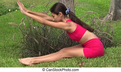 Thin Female Stretching