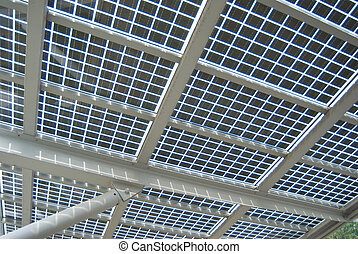 Thin film solar cell as roof of architecture