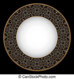 Thin gold pattern for plates, trays, dishes and souvenirs....