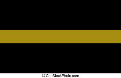 thin golden line flag dispatchers and communication personnel symbol