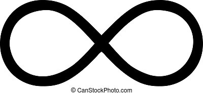 Thin infinity sign