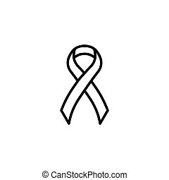 aids ribbon icon on white background