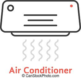 thin line air conditioner icon. concept of celsius, freshen,...