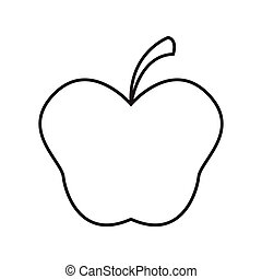 Thin line apple icon