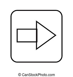 Thin line arrow sign icon