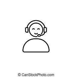 call center operator icon, online support