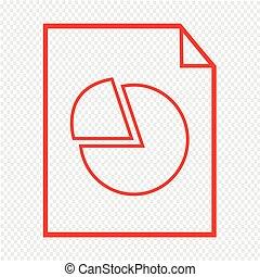 Thin line chart document icon Illustration design