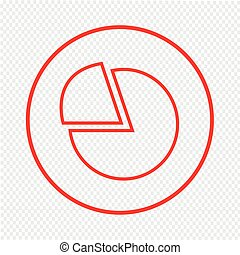 Thin Line Chart Icon Illustration design