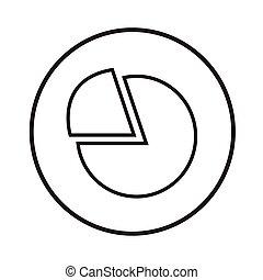Thin Line Chart Icon Illustration design