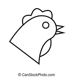 thin line chicken icon