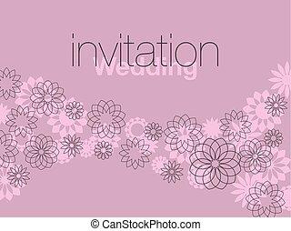 thin line decorative geometry flowers. vector illustration.