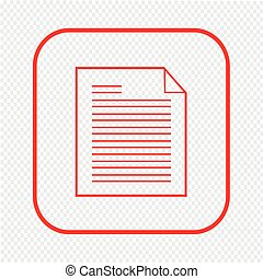 Thin line document icon Illustration design