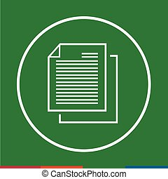 Thin line document icon Illustration design