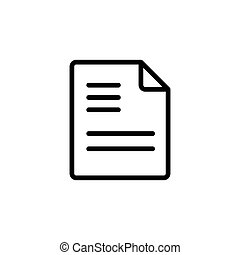 line document icon on white background