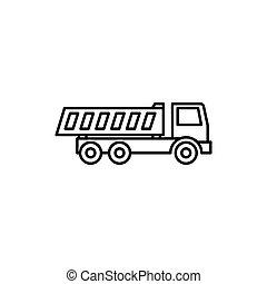 dump truck icon on white background