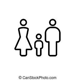 thin line family icon