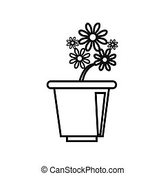 Thin line flower icon