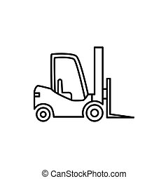 forklift icon on white background