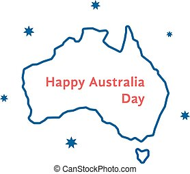 thin line happy australia day