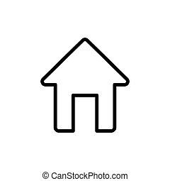thin line home, house icon