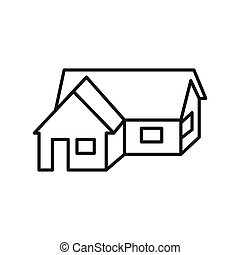 Thin line house icon