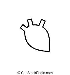 human heart icon on white background