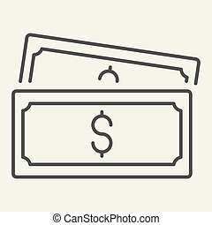 thin line icon. vector illustration isolated on white. Money outline style design, designed for web and app. Eps 10.