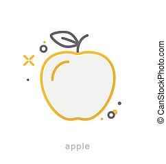 Thin line icons, Apple
