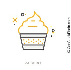 Thin line icons, Banoffee
