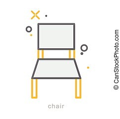 Thin line icons, Chair