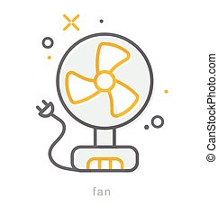 Thin line icons, Fan