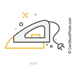 Thin line icons, Iron