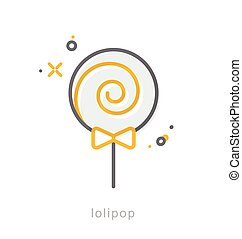 Thin line icons, Lolipop - Thin line icons, Linear symbols, ...