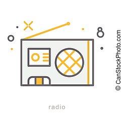 Thin line icons, Radio